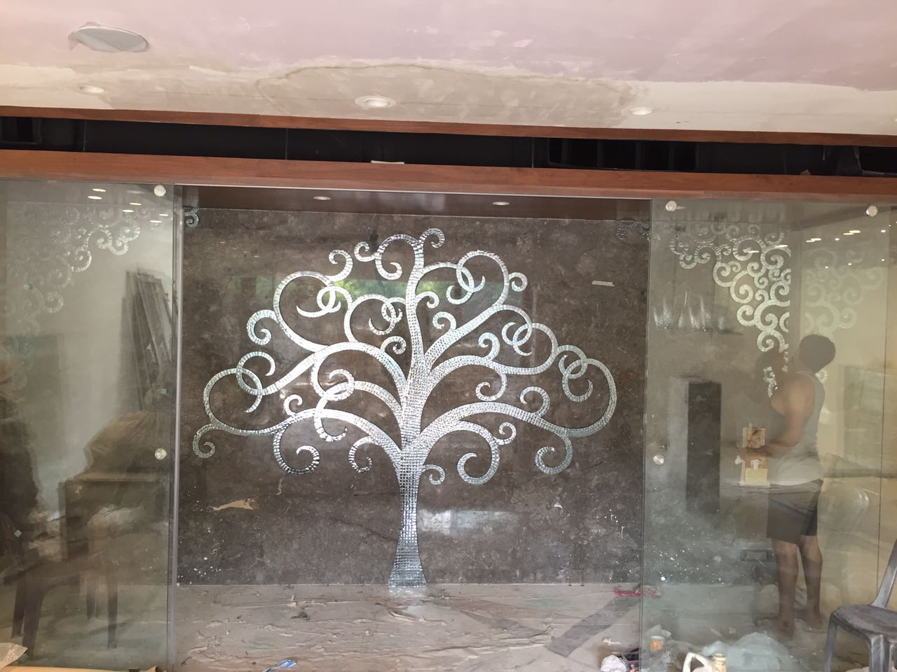 Glass Inlay Tree work in india (2)