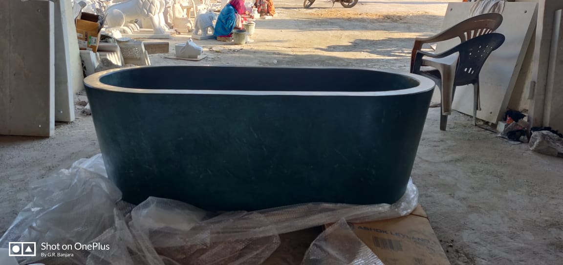 Green Marble Tub - exporter in india (3)