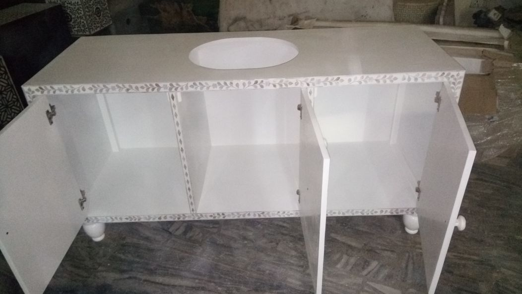Mother Of Pearl Powder Room Cabinet (3)