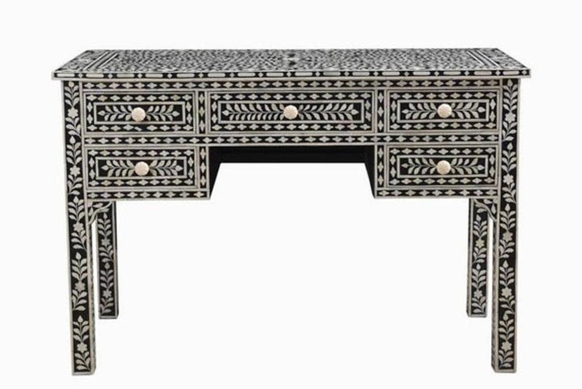 Buy Bone Inlay Desk | Bone Inlay Console Table